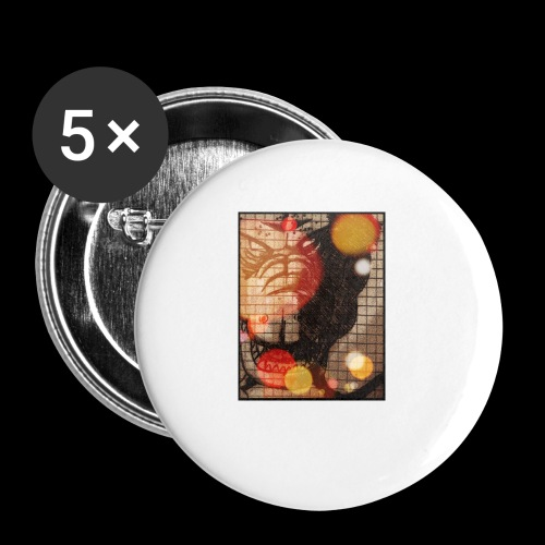 dragon - Confezione da 5 spille piccole (25 mm)