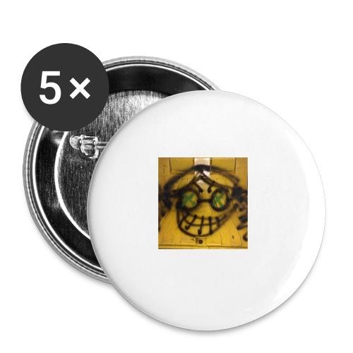 fox 3 - Lot de 5 petits badges (25 mm)