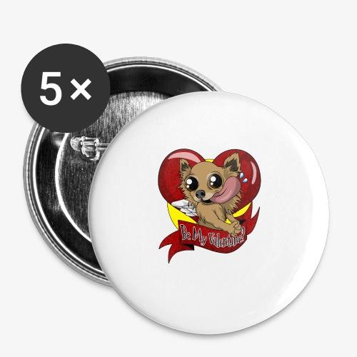 Engla Be my valentine? - Små knappar 25 mm (5-pack)