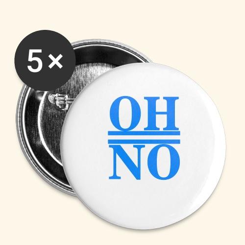 Oh no - Confezione da 5 spille piccole (25 mm)