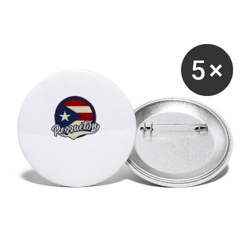 Reggaeton Music - Puerto Rico - Buttons klein 25 mm (5er Pack)
