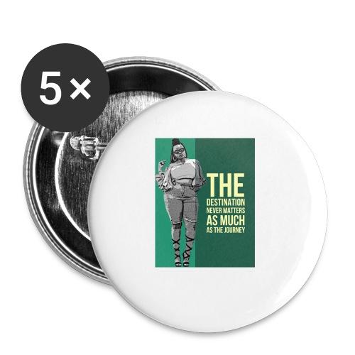 girlquote - Lot de 5 petits badges (25 mm)