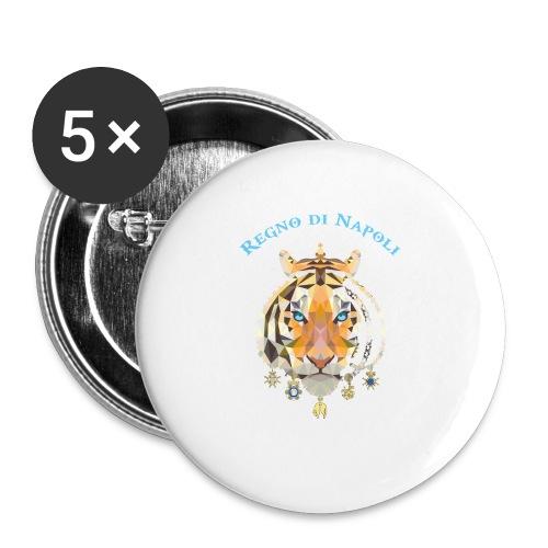 regno di napoli tigre - Confezione da 5 spille piccole (25 mm)