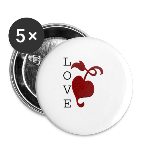 Love Grows - Buttons small 1''/25 mm (5-pack)