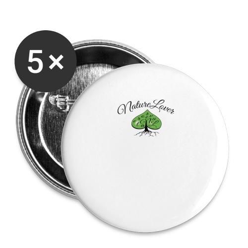 Nature Lover - Praise for the green & pristine - Små knappar 25 mm (5-pack)