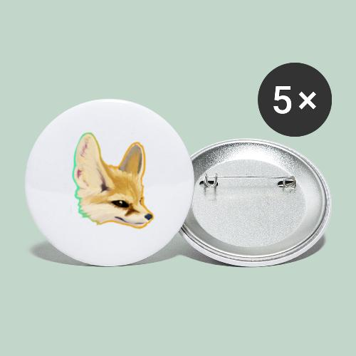fox head - Buttons small 1''/25 mm (5-pack)