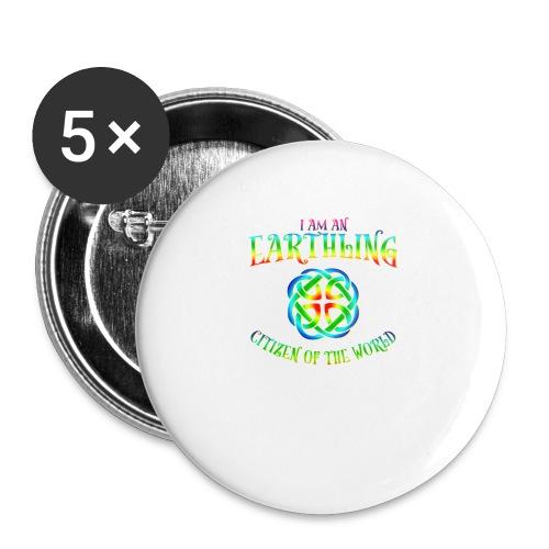 EARTHLING T-shirt - Små knappar 25 mm (5-pack)