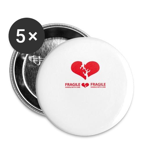 I am FRAGILE - Handle with care! - Små knappar 25 mm (5-pack)