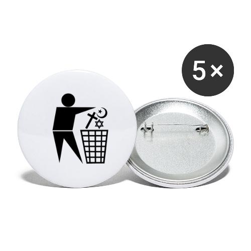 Anti Religion # 1 - Buttons small 1''/25 mm (5-pack)