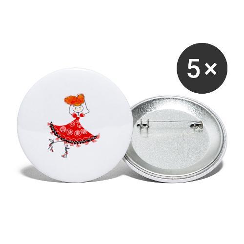 Ballerina - Confezione da 5 spille piccole (25 mm)
