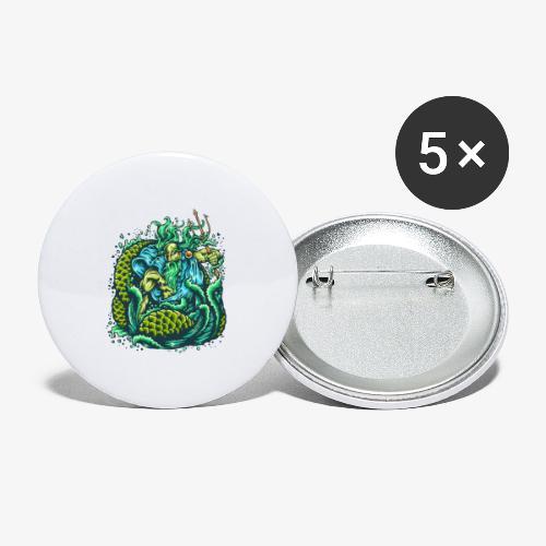 Dieu de la mer - Lot de 5 petits badges (25 mm)