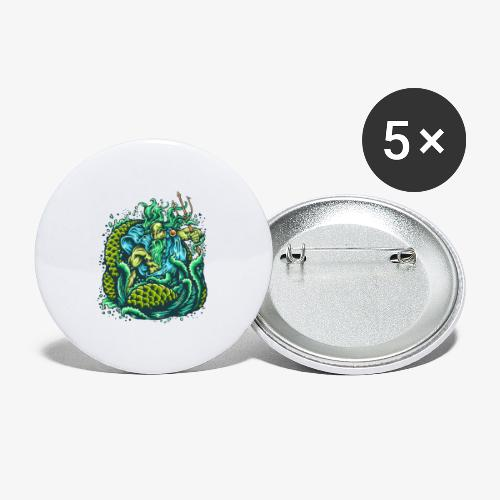 Dieu de la mer - Lot de 5 petits badges (25 mm)