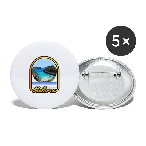 Mallorca - Buttons klein 25 mm (5er Pack)