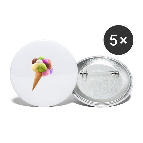 ice cream - Buttons/Badges lille, 25 mm (5-pack)