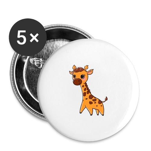 Mini Giraffe - Buttons small 1''/25 mm (5-pack)