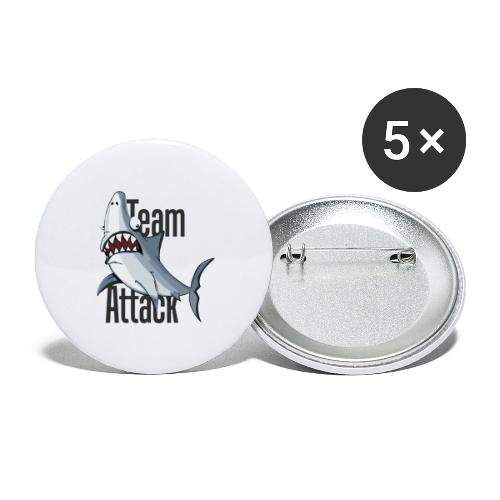 team hai - Buttons klein 25 mm (5er Pack)