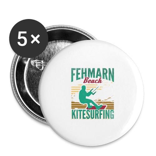 Kitesurfing Fehmarn - Buttons klein 25 mm (5er Pack)