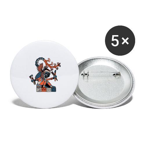 MAESTRO MEZCALERO PREHISPÁNICO - Paquete de 5 chapas pequeñas (25 mm)