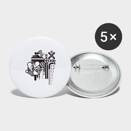 PSICODELIA - Paquete de 5 chapas pequeñas (25 mm)