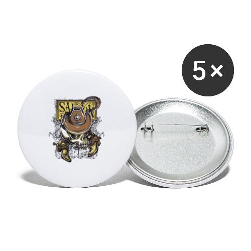 Saloon - Paquete de 5 chapas pequeñas (25 mm)