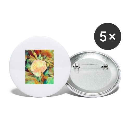 Flower - Buttons klein 25 mm (5er Pack)