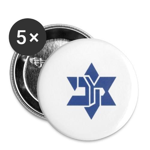barkochba stern - Buttons klein 25 mm (5er Pack)