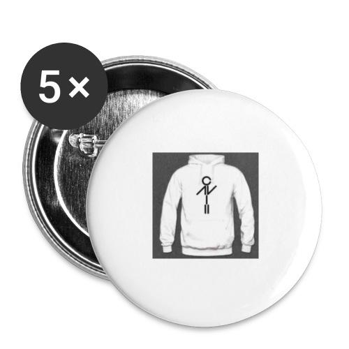 polera - Paquete de 5 chapas pequeñas (25 mm)