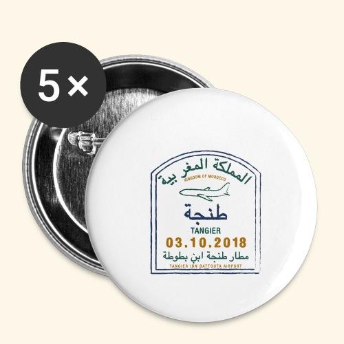 Tanger - Lot de 5 petits badges (25 mm)