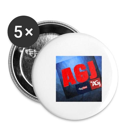AGJ Nieuw logo design - Buttons klein 25 mm (5-pack)