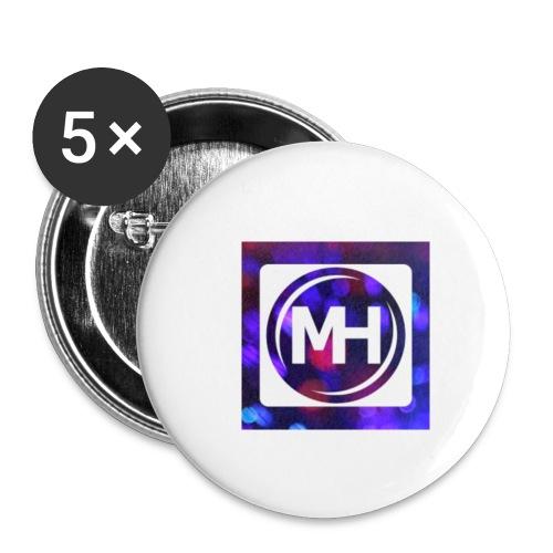 Multi-Host Logo - Buttons klein 25 mm (5er Pack)
