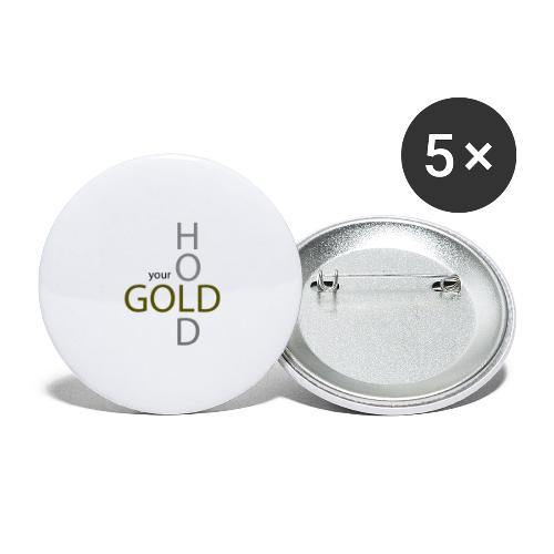 hold your gold - Buttons klein 25 mm (5er Pack)