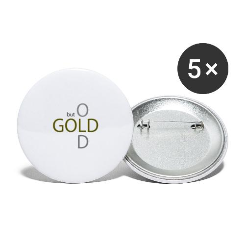 old but gold - Buttons klein 25 mm (5er Pack)