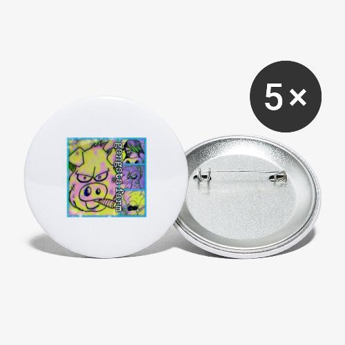 Gangsta Farm - Lot de 5 petits badges (25 mm)
