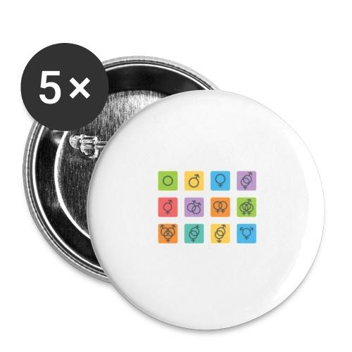 Genus motiv - Små knappar 25 mm (5-pack)