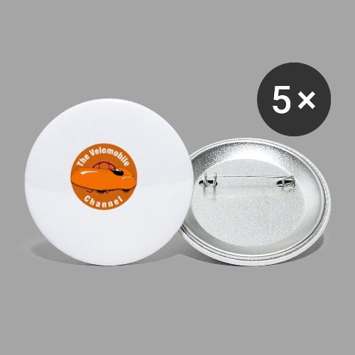 The Velomobile Channel logo - Rintamerkit pienet 25 mm (5kpl pakkauksessa)