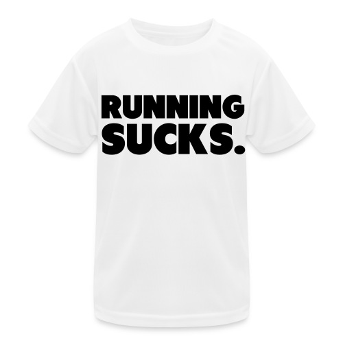 Running Sucks - Lasten tekninen t-paita