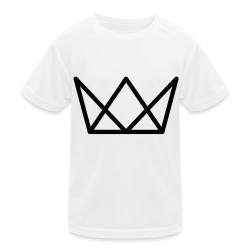 TKG Krone schwarz CMYK - Kinder Funktions-T-Shirt