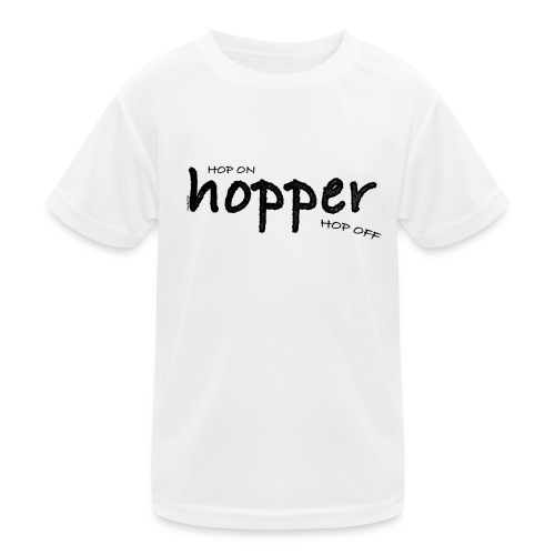 MuchoHop Hop On/Off (black) - Camiseta funcional para niños