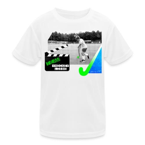 Team #Hockeyliebe weiß - Kinder Funktions-T-Shirt