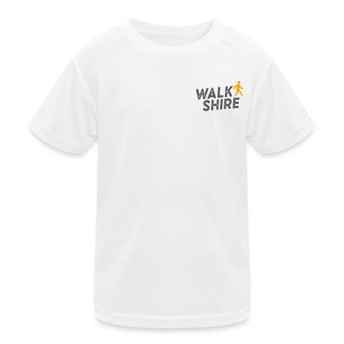 Walkshire logo orange person - Kids Functional T-Shirt