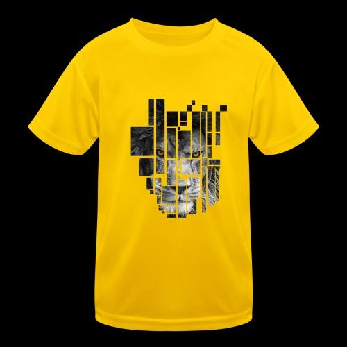 Pixel Lion Tattoo Inspire - Kids Functional T-Shirt