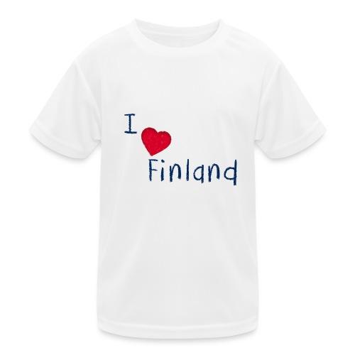 I Love Finland - Lasten tekninen t-paita
