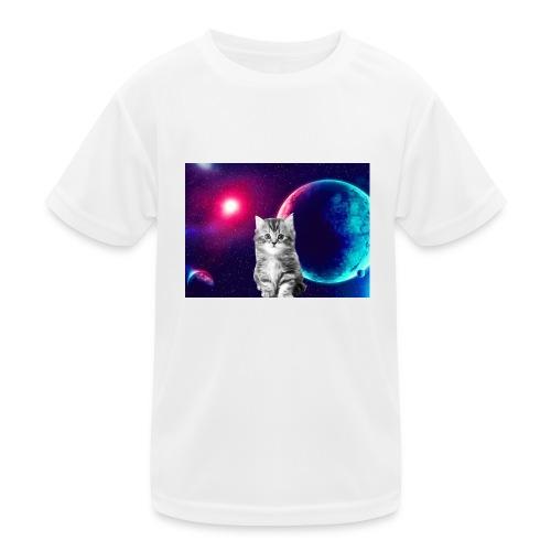 Cute cat in space - Lasten tekninen t-paita
