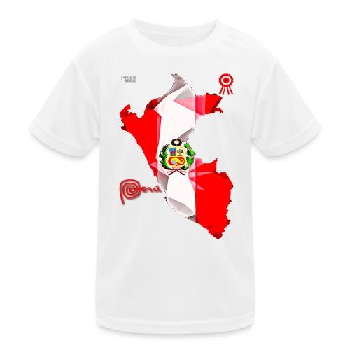 Mapa del Peru, Bandera y Escarapela - Kids Functional T-Shirt