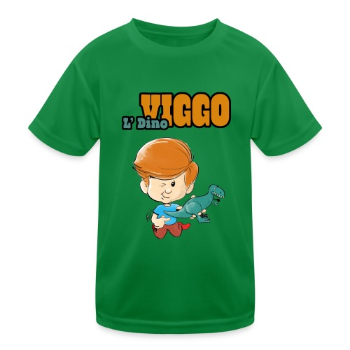 LDinoViggo Logo total - Funktionsshirt til børn