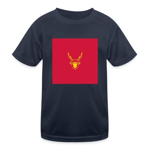 scimmiacervo sfondo rosso - Maglietta sportiva per bambini