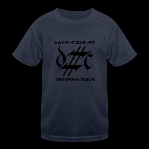 Dark-Code Black Gothic Logo - T-shirt sport Enfant