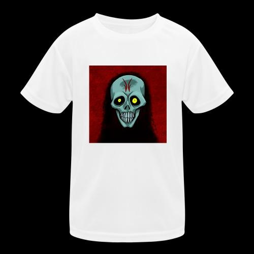 Ghost skull - Kids Functional T-Shirt