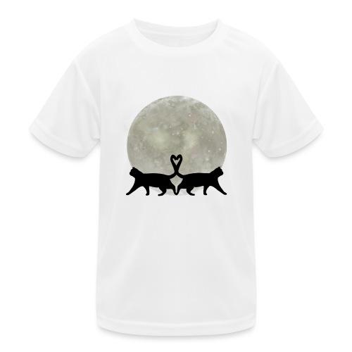 Cats in the moonlight - Functioneel T-shirt voor kinderen