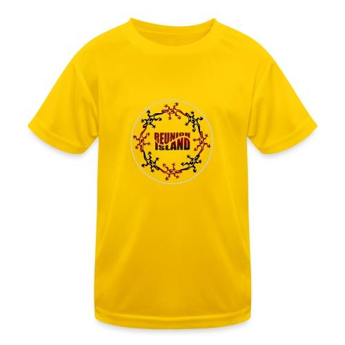 Badge Reunion Island Rouge - T-shirt sport Enfant